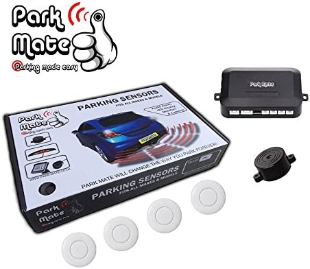 Park Mate PM100 White Rear Reversing Parking Sensors Audio Compatible with Ford Transit Custom