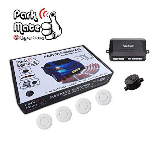 Fiat Park Mate PM100 White Rear Reverse Parking Sensors Audio