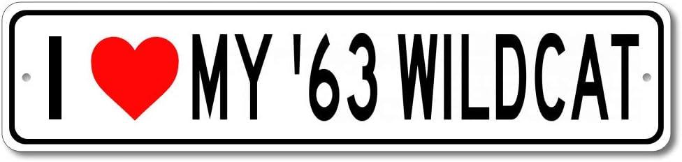 1963 63 Buick Wildcat I Love My Car Aluminum Sign, Garage Wall Decor, Man Cave Sign - 4x18 inches