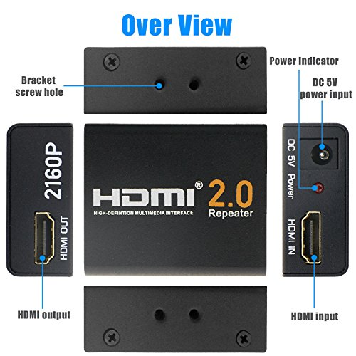 2160P 3D 4K HDMI Signal Repeater Extender Booster Adapter Over Signal HDTV 60 Meters Lossless Transmission by KSRplayer (Image #4)