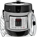 COSORI Electric Pressure Cooker 7-in-1 Multi-Functional, Digital Stainless Steel Steam Rice Slow Cookware, 6 Quart/1000W