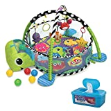 Infantino Grow-with-Me Baby Activity Gym/Playmat and Ball Pit with BONUS Hypoallergenic, Unscented Baby Wipes, 128 Count