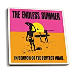 The Endless Summer - Original Movie Poster (Set of 4 Ceramic Coasters - Cork-backed, Absorbent)