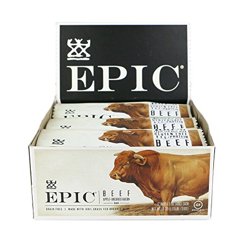 Epic All Natural Meat Bar, Beef, Apple & Uncured Bacon, 1.5 oz. (12 Count)