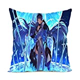 Unique Style Retail Package Popular Akame Ga Kill Style Pillow Cover Square Zippered Throw Pillowcase Soft Pillow Sham Bedding Set 18x18 Inch
