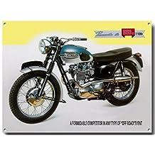 Triumph Bonneville 650 quality metal sign (200mm x 285mm x 1mm)