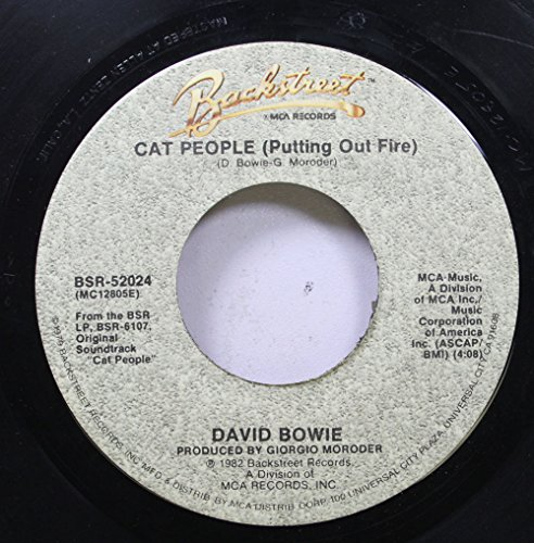 DAVID BOWIE 45 RPM CAT PEOPLE (PUTTING OUT FIRE) / PAUL'S THEME (JOGGING CHASE) (45 Records People Rpm)