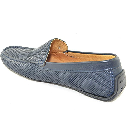 in Slip Pelle Mocassino Moda interland Uomo on Vera Italy Scarpe Estiva Shoes da Barca Car Modello Comfort Made q8PyZx