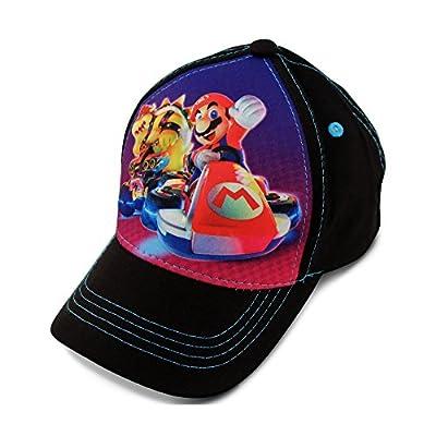 Nintendo Boys' Toddler Mario Kart Character 3D Pop Baseball Cap, Black, Age 2-4 from Nintendo