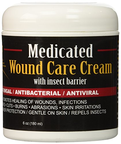 E3 Elite Medicated Wound Cream for Pets, 6 (Equine Wound Care)