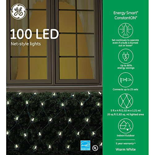 Ge 100 Count White Led Christmas Lights - 9