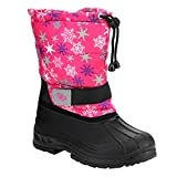 JELLY BEANS FG14 Girl's Toddlers Bungee Lacing Mid Calf Snow Boots, Color:FUCHSIA MULTI, Size:10 M US Toddler