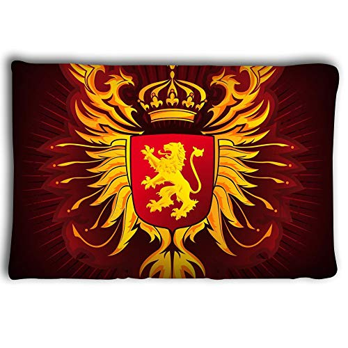 Mizongxia Pillow Cases Coats arms Russian Empire Golden Crowned Double Headed Eagles Over Blackboard Hand Drawn Vector Illustration Coats 2030inch