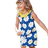 Outtop(TM) Baby Girls Dress Toddler Kids Summer Sleeveless Print Princess Dress Casual Party Clothes (4T(3~4year), Blue)