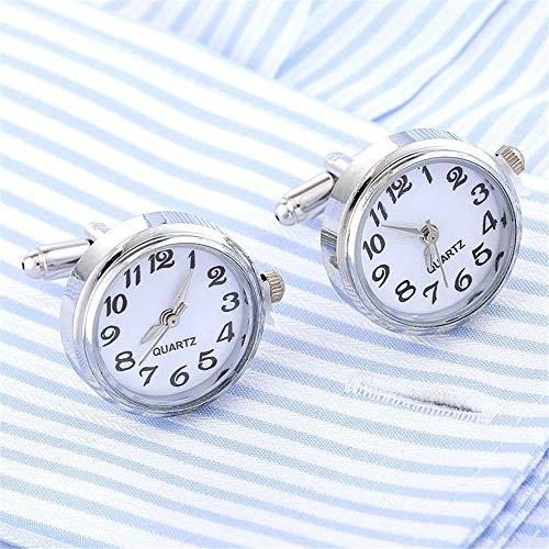 2017 New Watch Real Clock Cuff Links Jewelry Mens Brass Stylish Dress Cufflinks