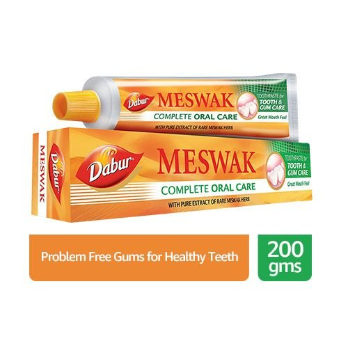 Dabur meswak complete oral care with pure extract of rare miswak herb toothpaste for tooth and gum care great mouth feel…
