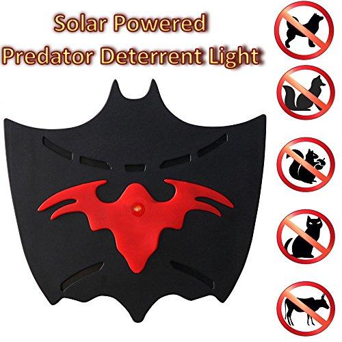 Outdoor Solar Powered Garden Light Deterrence Sensor Animal Repeller for Waterproof, Deterrent Light Nocturnal Animals