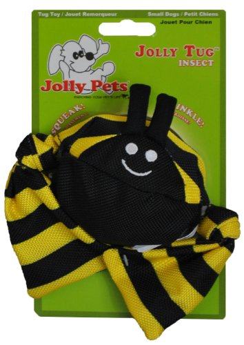 Jolly Pets Jolly Tug Bumble Bee Tug/Squeak Toy, Large