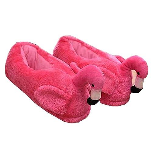 Zapatillas de algodón Flamingo Lindas, Zapatillas de algodón Antideslizantes Calientes hogar Invierno (EUR 35-40, Rojo): Amazon.es: Zapatos y complementos