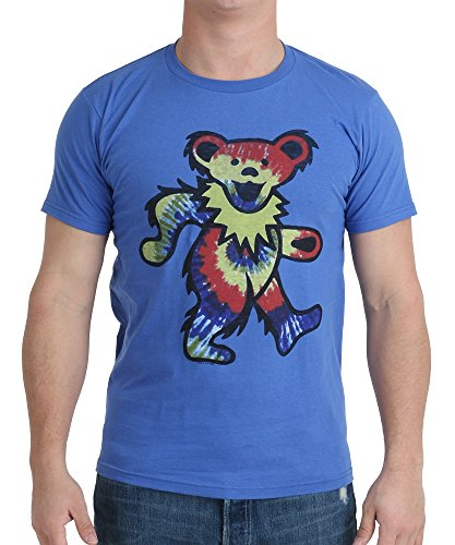 Junk Food Grateful Dead Dancing Bear Adult Royal Blue T-Shirt (Adult XX-Large)