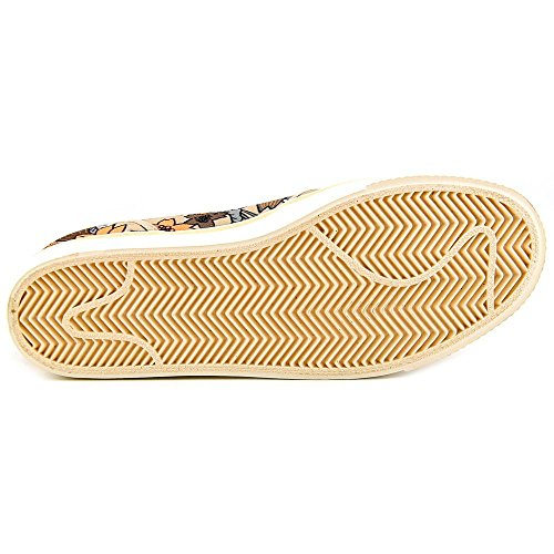 Nike Womens Toki Slip Lerretet Uformell Sko Spanskrør / Seil / Solnedgang Glød