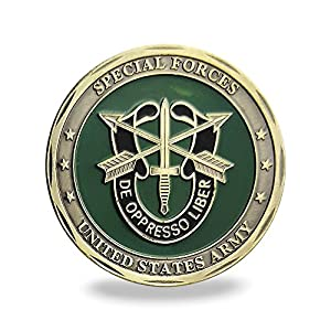 United States Army Green Beret Military Special Forces Challenge Coin Veteran Gift by FunYan