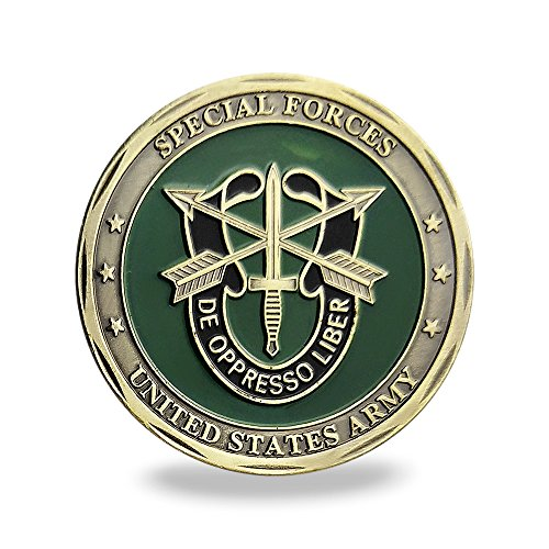 (United States Army Green Beret Military Special Forces Challenge Coin Veteran Gift)