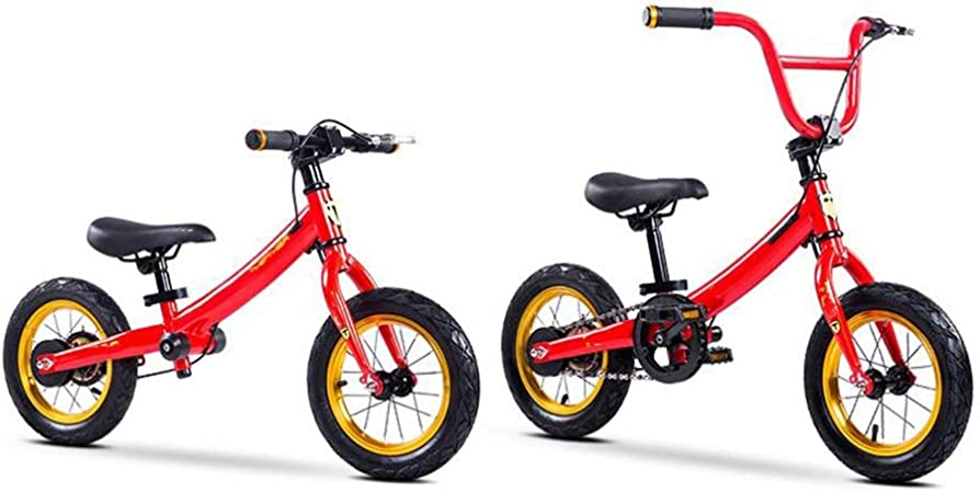 YUMEIGE Bicicletas sin Pedales Bicicletas sin Pedales 3-en-1, Bicicleta de Equilibrio para niños Marco Curvo de Acero con Alto Contenido de Carbono, límite de dirección Suave Desmontable: Amazon.es: Jardín