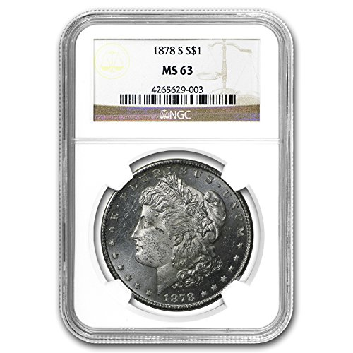 (1878 S Morgan Dollar MS-63 NGC $1 MS-63 NGC)