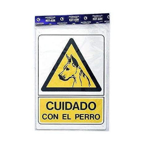 Rotulauto - Senal Plastico Cuidado Con El Perro: Amazon.es ...