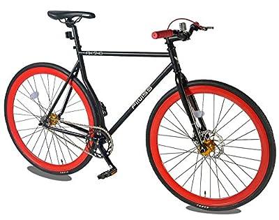 Merax Classic Fixed Gear Bike Single Speed Road Bike with Disc Brake