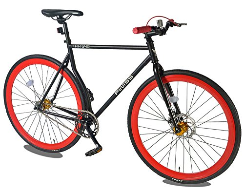 Merax Classic Fixed Gear Bike Single Speed Road Bike with Disc Brake