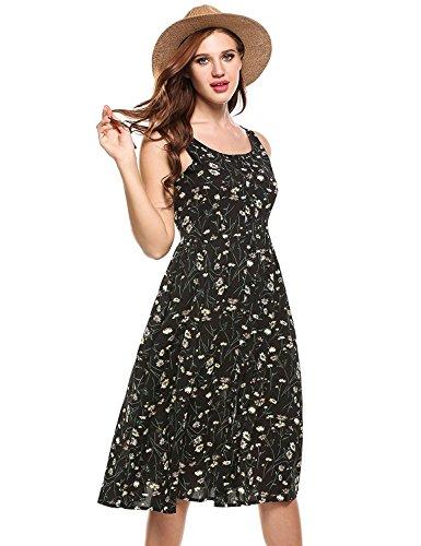 90s floral dress - 1