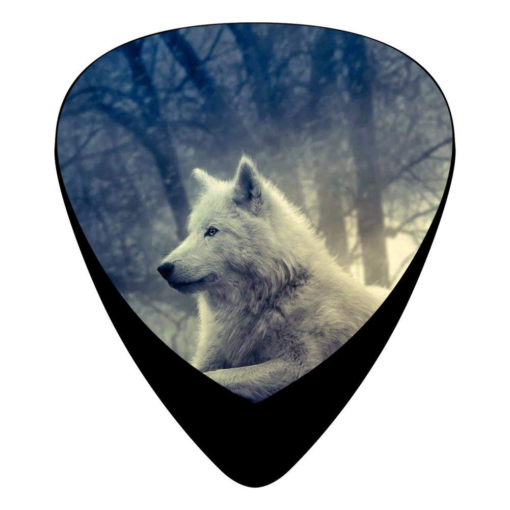 Forest Wolf Fender Celluloid Guitar Picks Customized 12 Pack Thin, Medium, Heavy Gauges For Musician by Phoenix Powell88