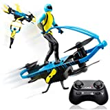 Force1 Stunt RC Mini Drone for Kids - Remote Control Flying Toys for Kids with Paraglider and Hover Modes, Action Figure