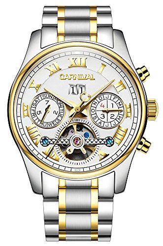 (Men's Complications Automatic Self Wind Mechanical Wrist Watch 18k Gold (White Gold))