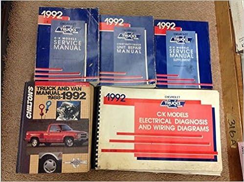 1992 Chevrolet Chevy CK C/K TRUCK TRUCKS Service Repair Shop ... on