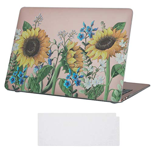 HDE MacBook Air 2018 Case - New MacBook Air 13 inch Case Keyboard Skin Cover for Touch Bar Equipped Apple MacBook Air 13 Inch Retina (A1932, 2018 Release) -  Sunflowers