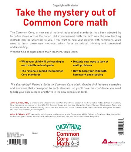 Amazon.com: The Everything Parent's Guide to Common Core Math ...