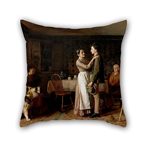 MaSoyy Cushion Cases 18 X 18 Inches / 45 By 45 Cm(both Sides) Nice Choice For Drawing Room,family,girls,bench,wedding,family Oil Painting Thomas Hovenden, American (born Ireland) - Breaking Home - Sale Tortoise For Ireland