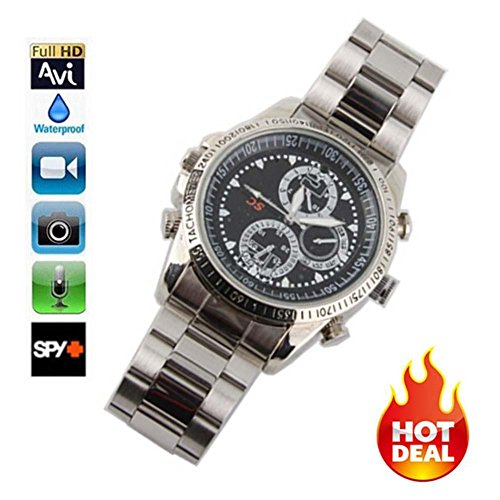 8Gb Water Resistant Spy Watch Camera - 1