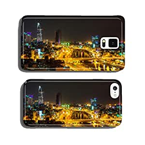 Night view of Saigon traffic along the river, Ho Chi Minh City, cell phone cover case Samsung S5