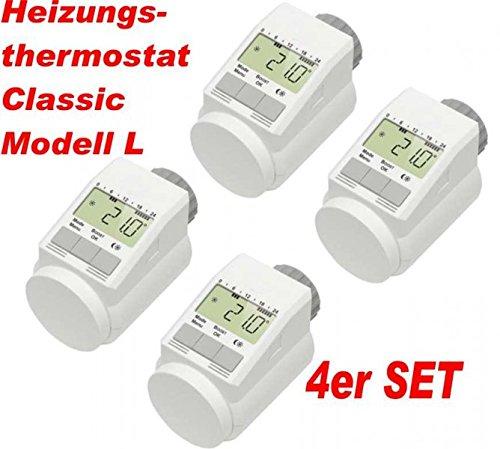 4er Set eQ-3 Eqiva Model L Elektronik-Heizk/örperthermostat mit Boost-Funktion