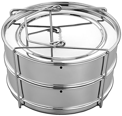 stainless steel 2 tier steamer - 2
