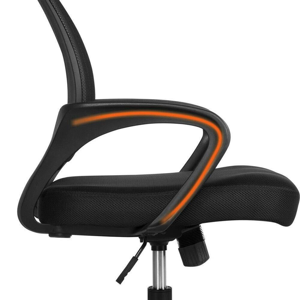 Kontorsstol skrivbordsstol hem kontor stol konferensstol datorstol lyftstol 360 ° roterbart rostfritt stål material SGS-certifierad stol (färg: Röd # 1) Red#1