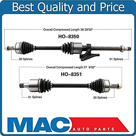 FRONT LEFT /& RIGHT CV Axle Shaft For ACURA TL 2009-2012