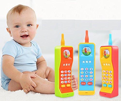 Baby Lernspielzeug Baby Lernspielzeug Musik Cartoon Telefon Telefon Spielzeug Kind Geschenke (zufällige Farbe) FlowerKui