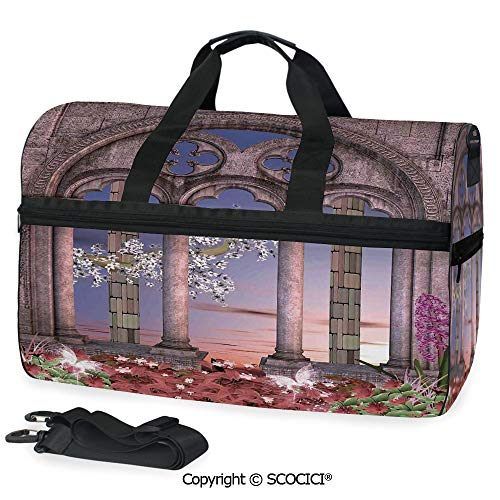 - Medium Weekend Duffel Bag Ancient Colonnade in Secret Garden with (One Size)