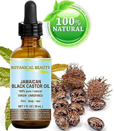 BLACK CASTOR OIL JAMAICAN. 100% Pure / Natural / Virgin / Unrefined Cold Pressed Carrier oil. 1 Fl.oz.- 30 ml. For Skin,...