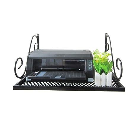 Almacenamiento en rack Estante de impresora colgante de pared multifuncional simple Estantería de hierro de pared ...
